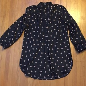 ModCloth Black with gold polka dots tunic